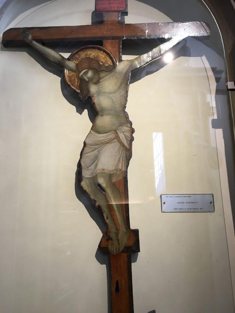 cortona, croce sagomata, pietro lorenzetti, francesca mercantini
